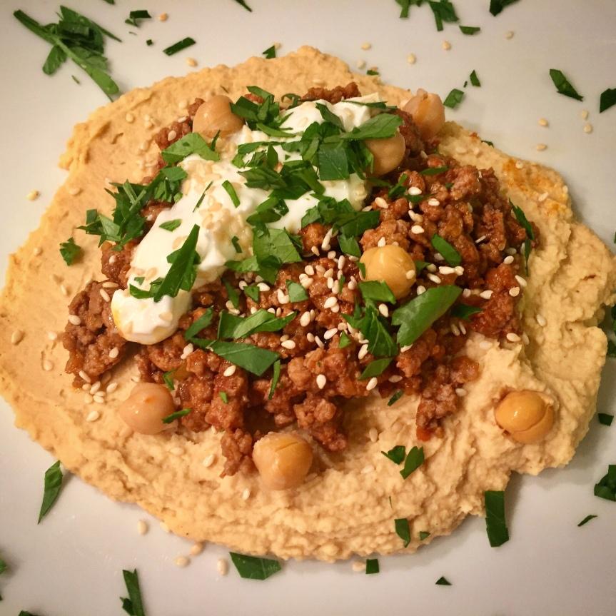 Hamshuka – Hummus undHackfleisch