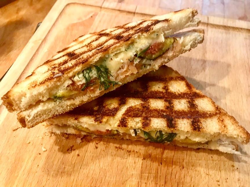 Lachs-Feigen-Toast