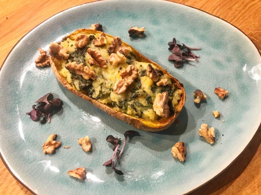 Ofenkartoffel-gorgonzola-spinat