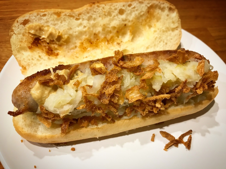 Sauerkraut-Hotdog