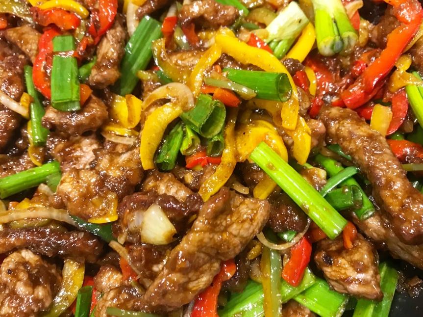 Mongolisches Rindfleisch
